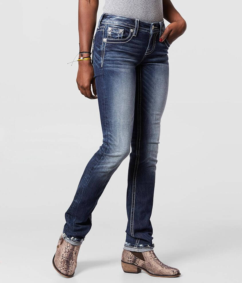 Miss Me Low Rise Straight Stretch Jean