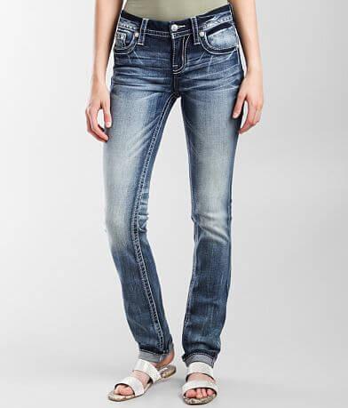 Miss Me Low Rise Straight Stretch Cuffed Jean