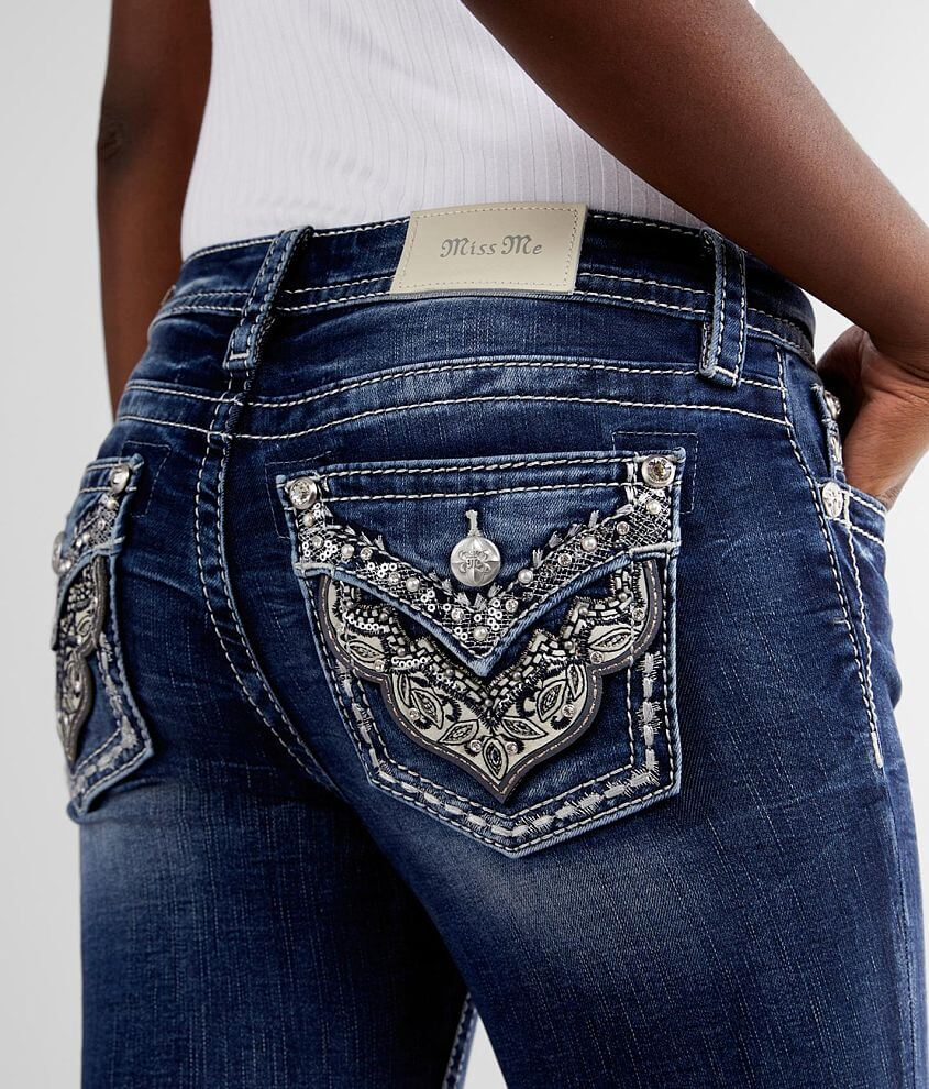 Miss Me Low Rise Ankle Skinny Stretch Jean front view
