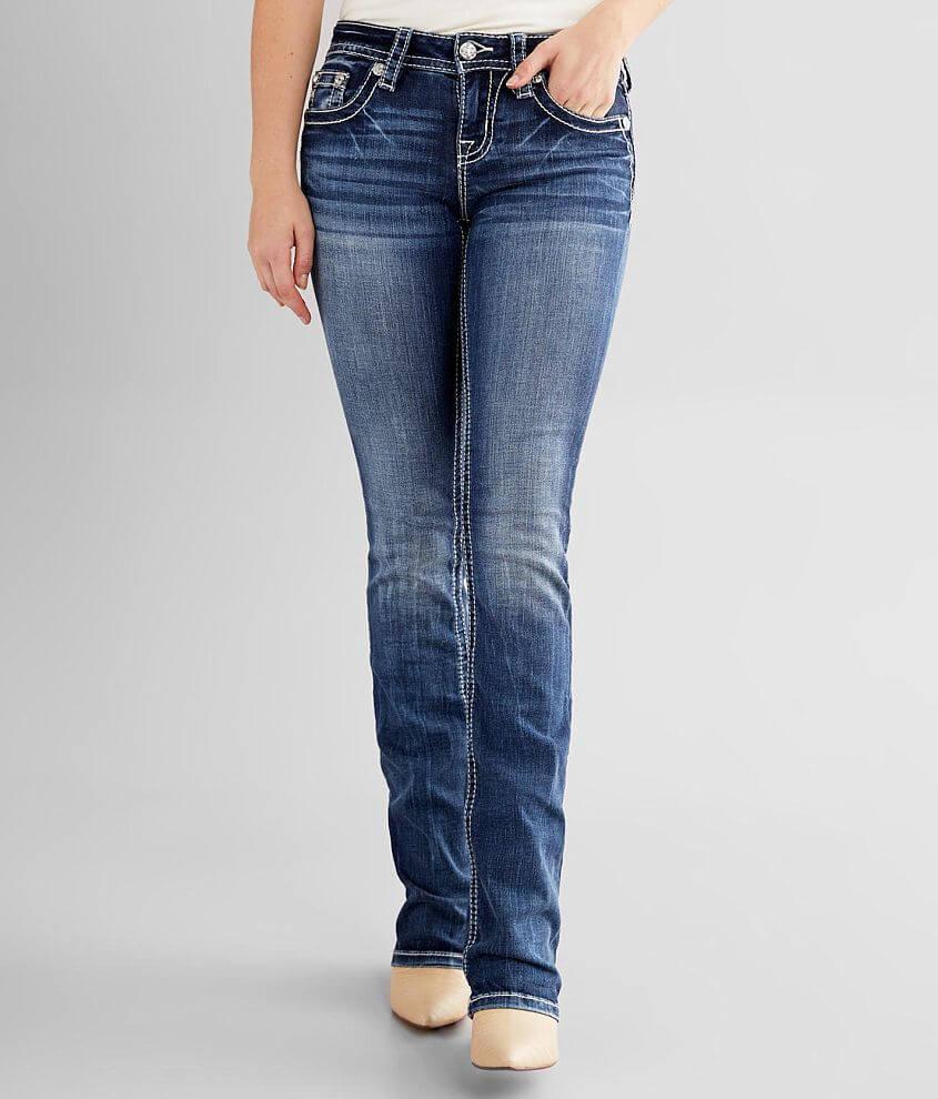 Miss Me Low Rise Slim Boot Stretch Jean