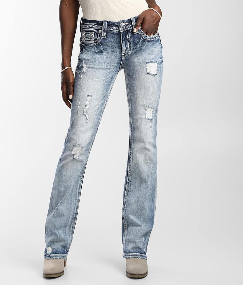 Miss Me Low Rise Boot Stretch Jean front view