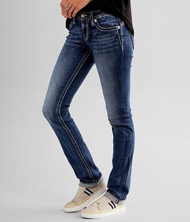 Miss Me Low Rise Straight Stretch Cuffed Jean
