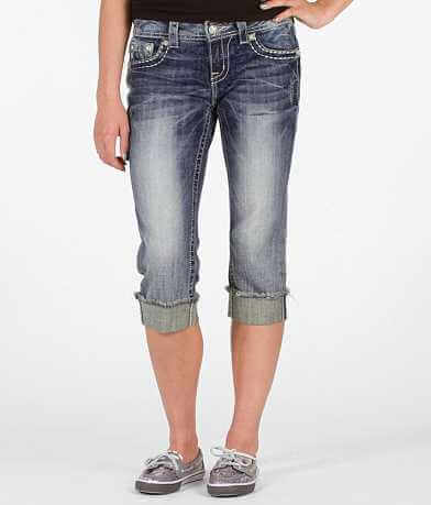 Miss Me Scroll Easy Stretch Cropped Jean
