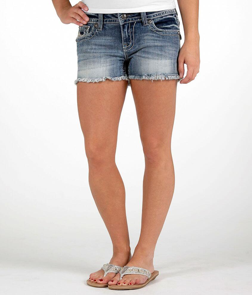 Miss Me Frayed Stretch Short front view