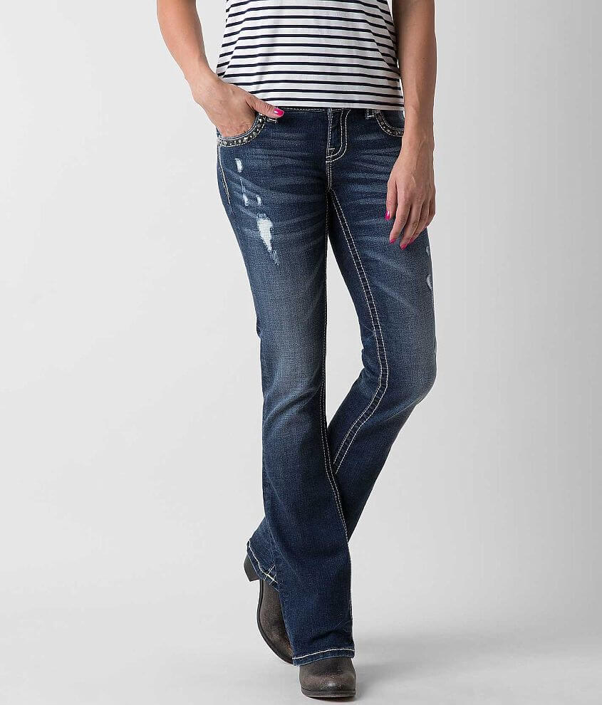 Miss Me Boot Stretch Jean front view
