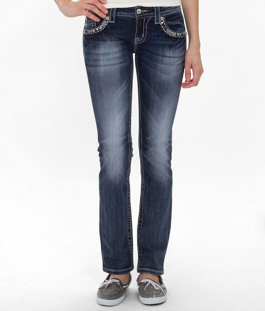 Miss Me Straight Stretch Jean front view