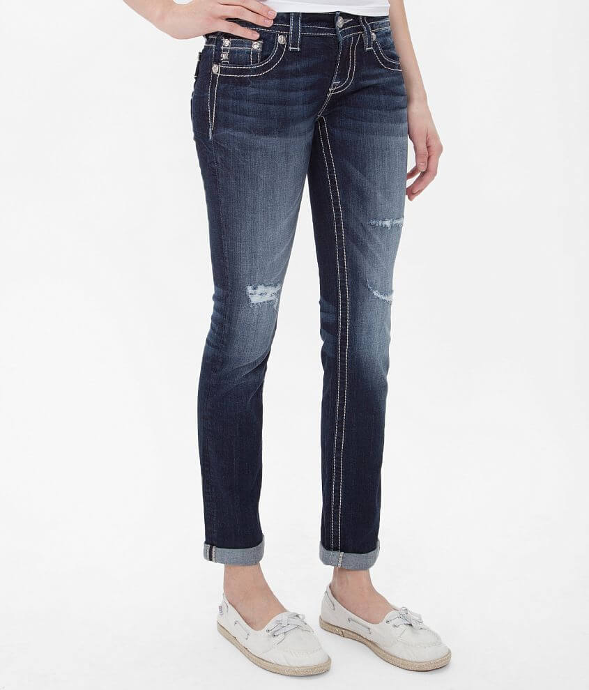 Miss Me Straight Stretch Cuffed Jean front view