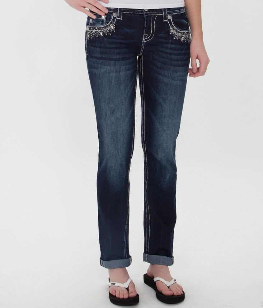 Miss Me Easy Ankle Skinny Stretch Jean front view