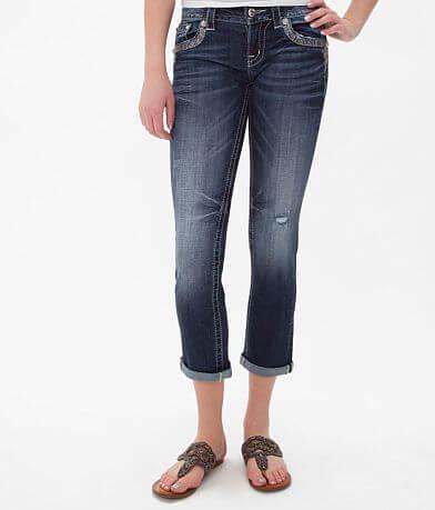 Miss Me Glitz Stretch Cropped Jean