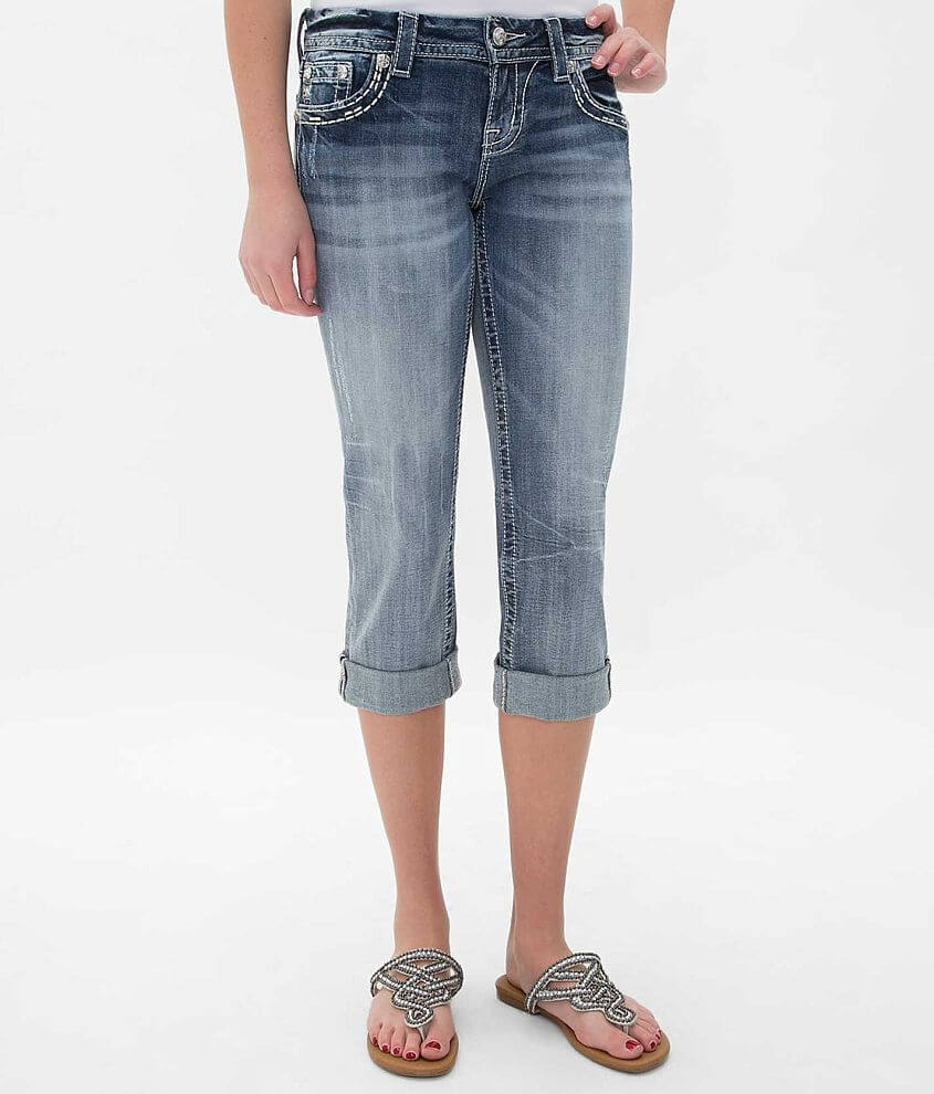 Miss Me Easy Cropped Stretch Jean front view
