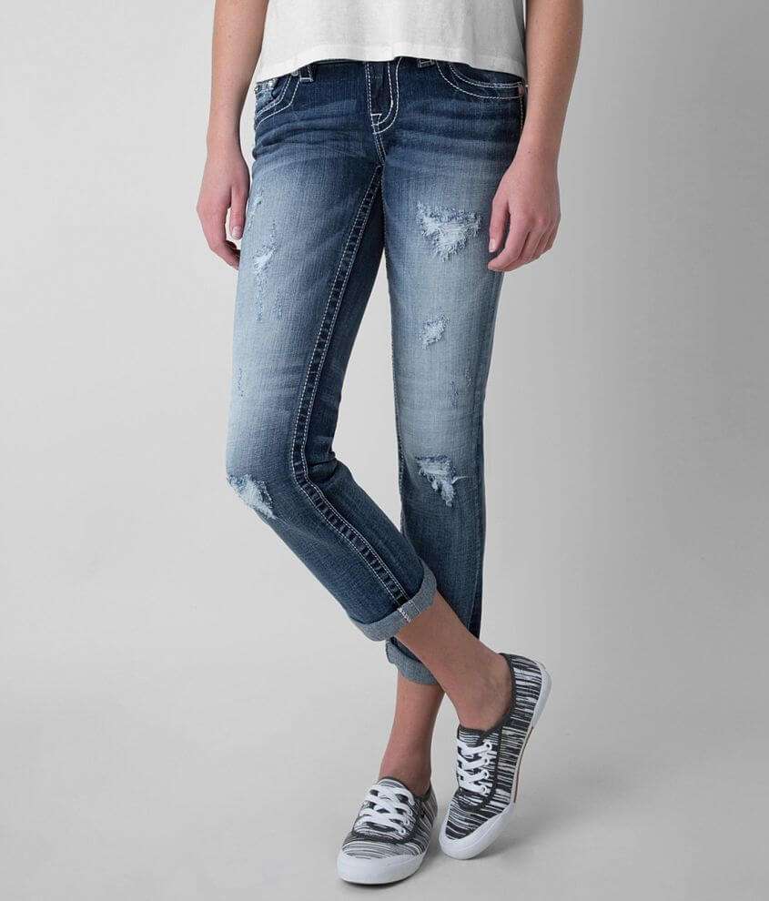 Miss Me Cropped Stretch Jean front view