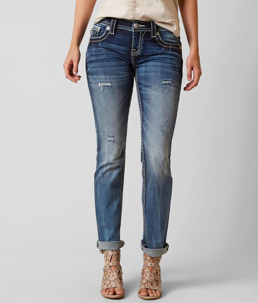 Miss Me Signature Straight Stretch Jean front view