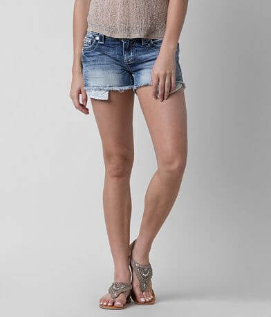 Miss Me Signature Frayed Stretch Short