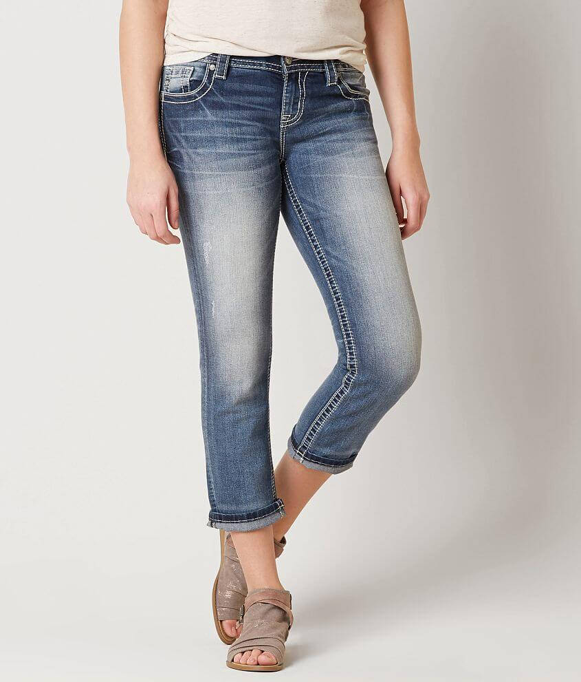 Miss Me Easy Stretch Cropped Jean front view