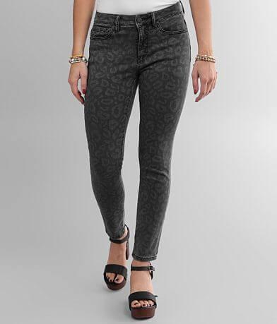 Miss Me Leopard Mid-Rise Ankle Skinny Stretch Jean