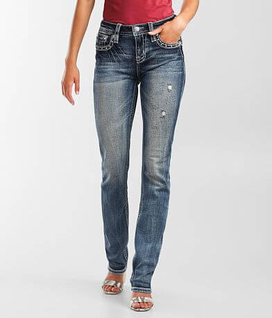 Miss Me Mid-Rise Straight Stretch Jean