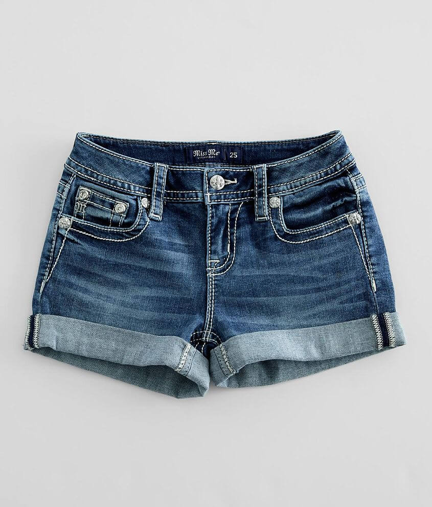 Miss Me Mid-Rise Stretch Cuffed Short front view