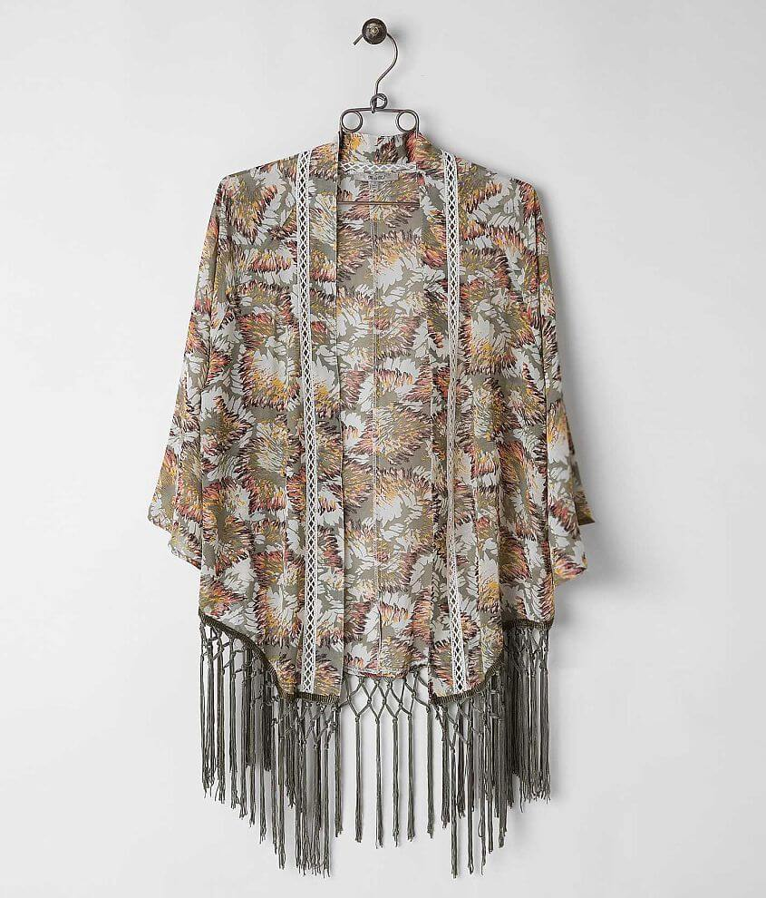 Miss Me Fringe Cardigan front view