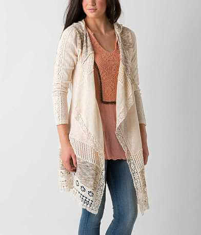 Miss Me Pieced Cardigan Sweater