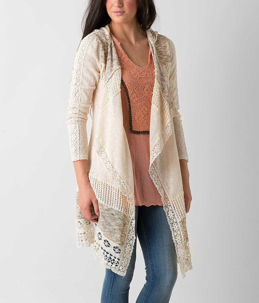 Miss Me Pieced Cardigan Sweater - Women s Sweaters in Cream  4432dd887