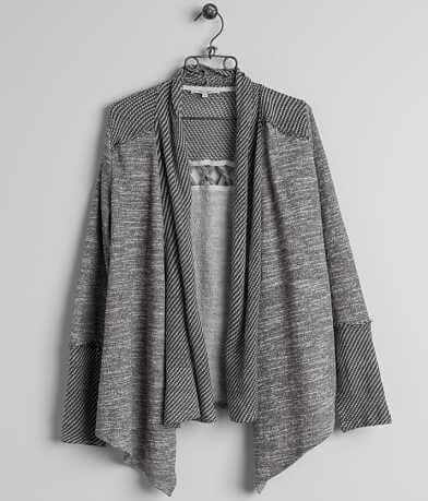 Miss Me Open Weave Cardigan Sweatshirt