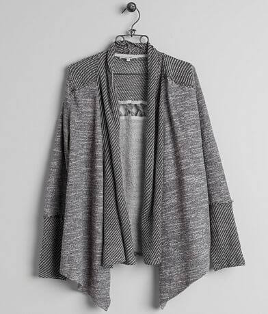 Miss Me Open Weave Cardigan Sweatshirt