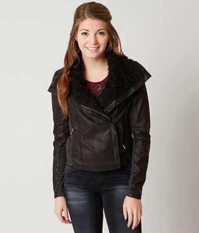 Miss Me Faux Leather Jacket