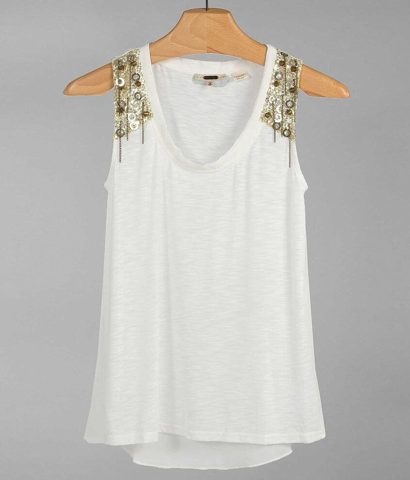 Miss Me Embellished Tank Top front view