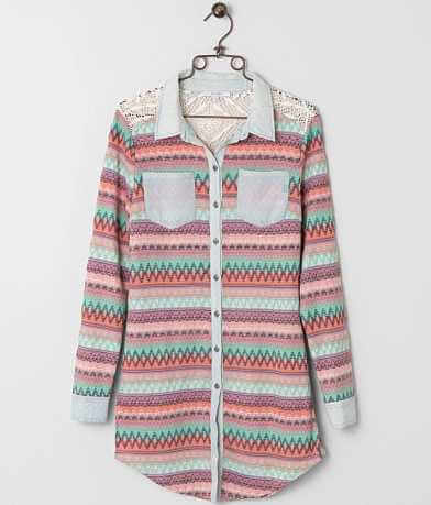 Miss Me Jacquard Shirt
