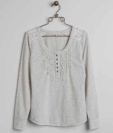 Miss Me Embellished Henley Top