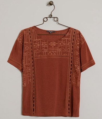 Miss Me Embroidered Top