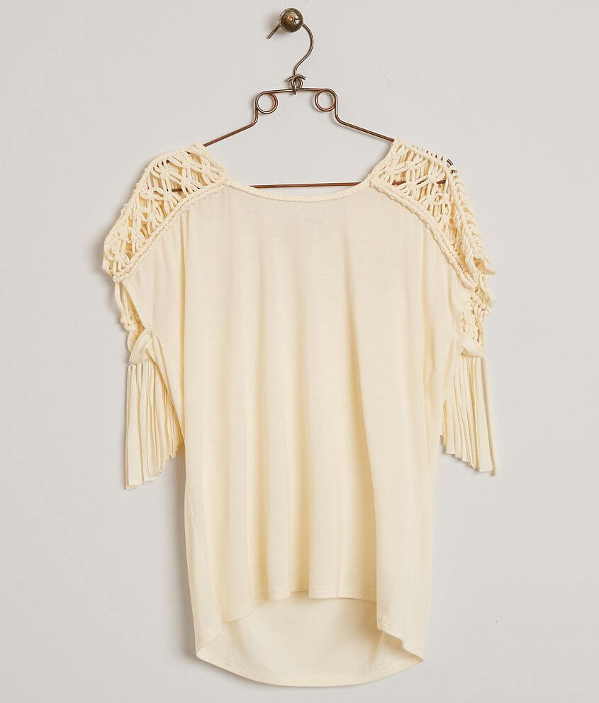 Miss Me Fringe Top front view