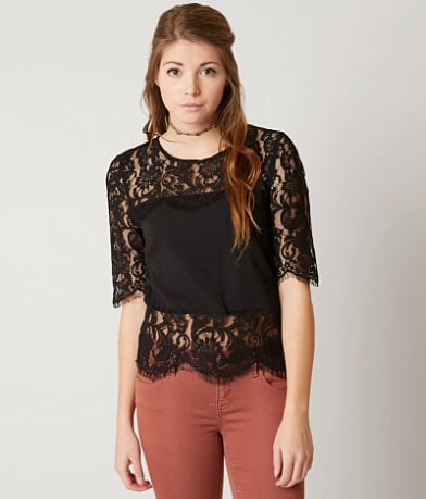 Miss Me Eyelash Lace Top