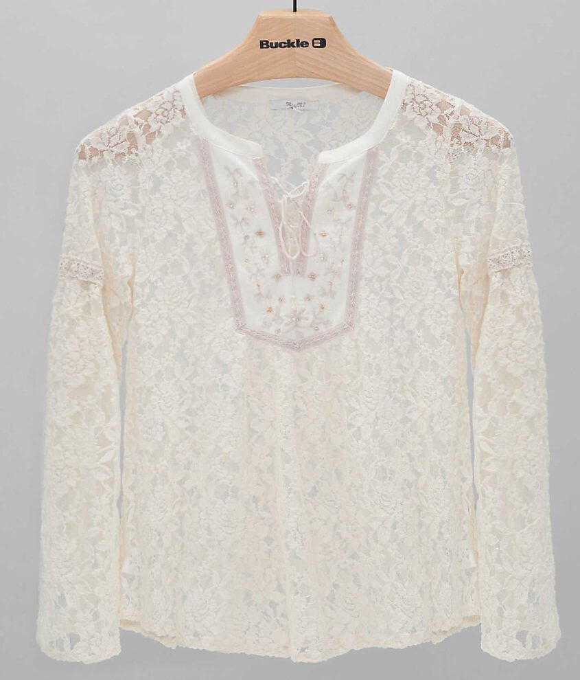 Miss Me Lace Top front view