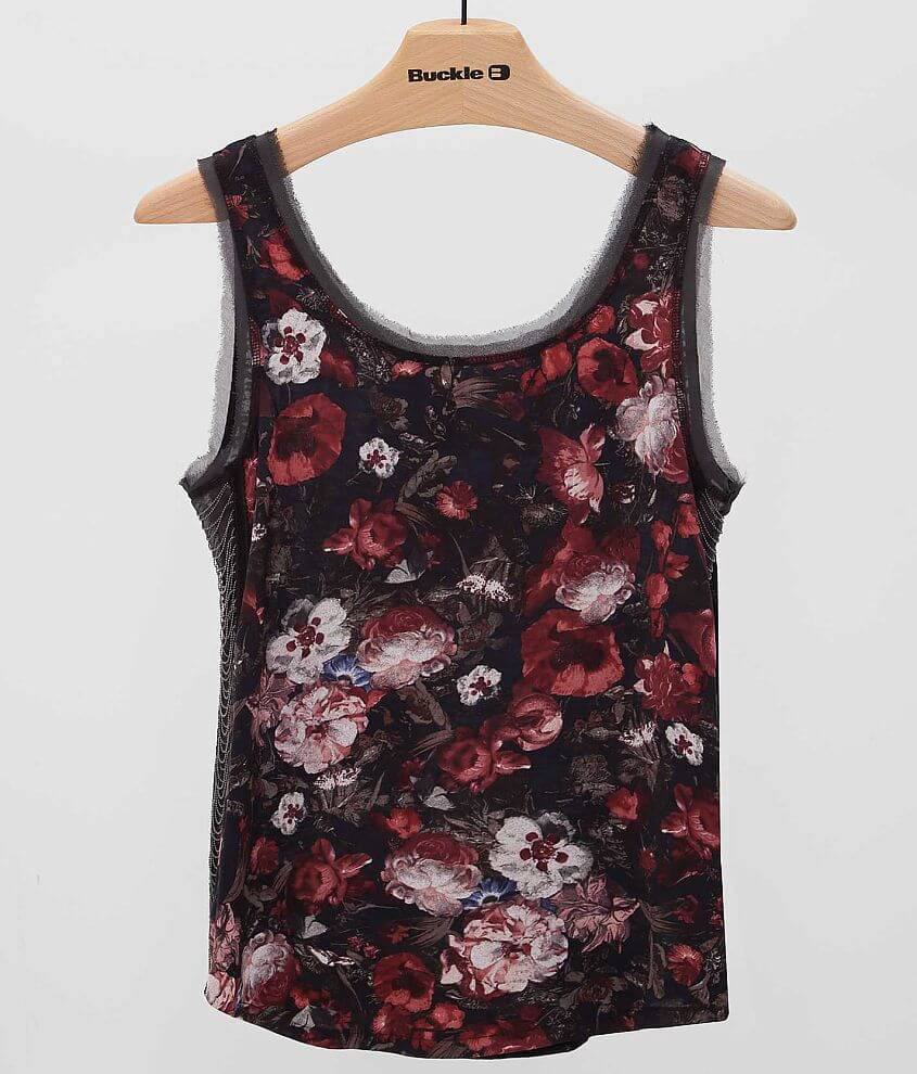 Miss Me Floral Tank Top front view