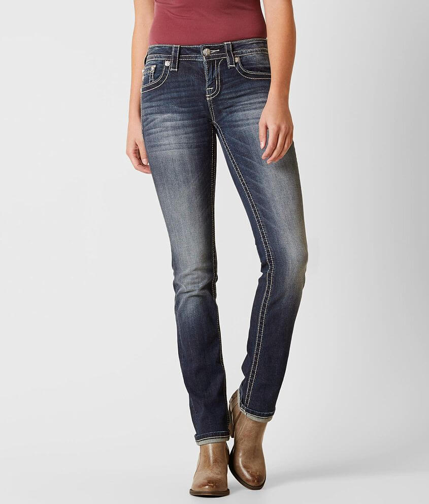 Miss Me Standard Straight Stretch Jean front view