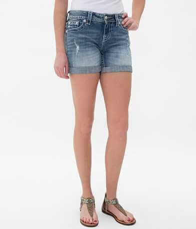 Miss Me Mid-Rise Bermuda Stretch Short