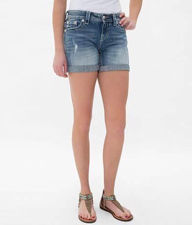 Miss Me Mid-Rise Bermuda Stretch Short