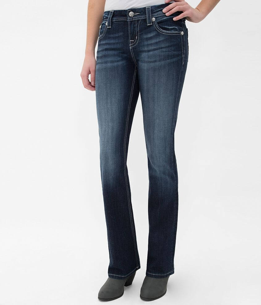 Miss Me Mid-Rise Curvy Boot Stretch Jean front view