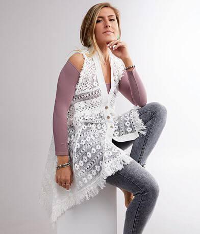 Miss Me Woven Crochet Tank Top