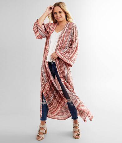 Miss Me Printed Kimono