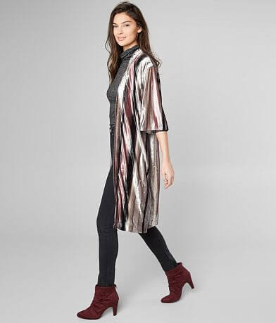 Miss Me Velvet Striped Cardigan