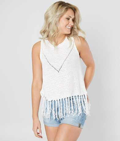Miss Me Open Weave Tank Top
