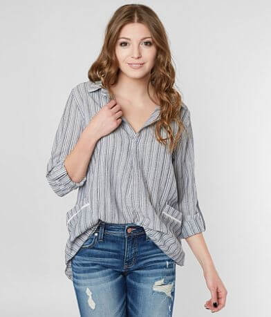 Miss Me Striped Woven Top