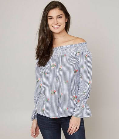 Miss Me Floral Embroidered Top