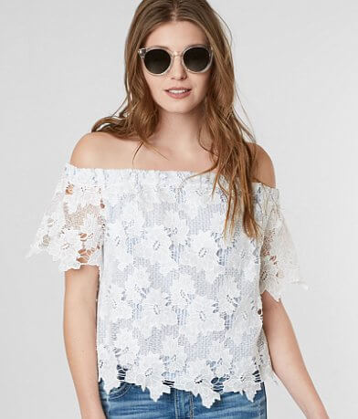 Miss Me Floral Off The Shoulder Top