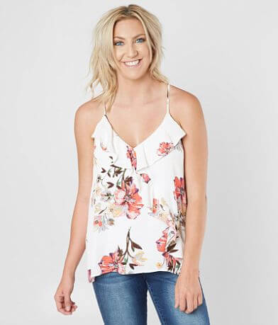 Miss Me Woven Floral Tank Top