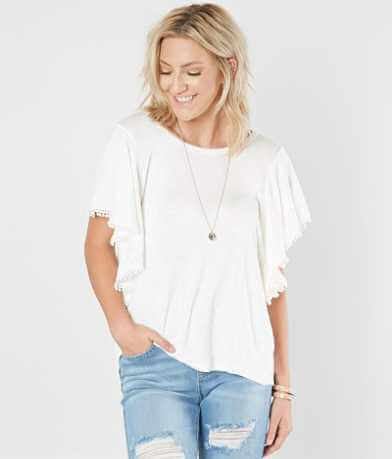 Miss Me Marled Scoop Neck Top