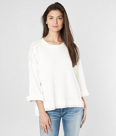 Miss Me Oversized Contrast Top