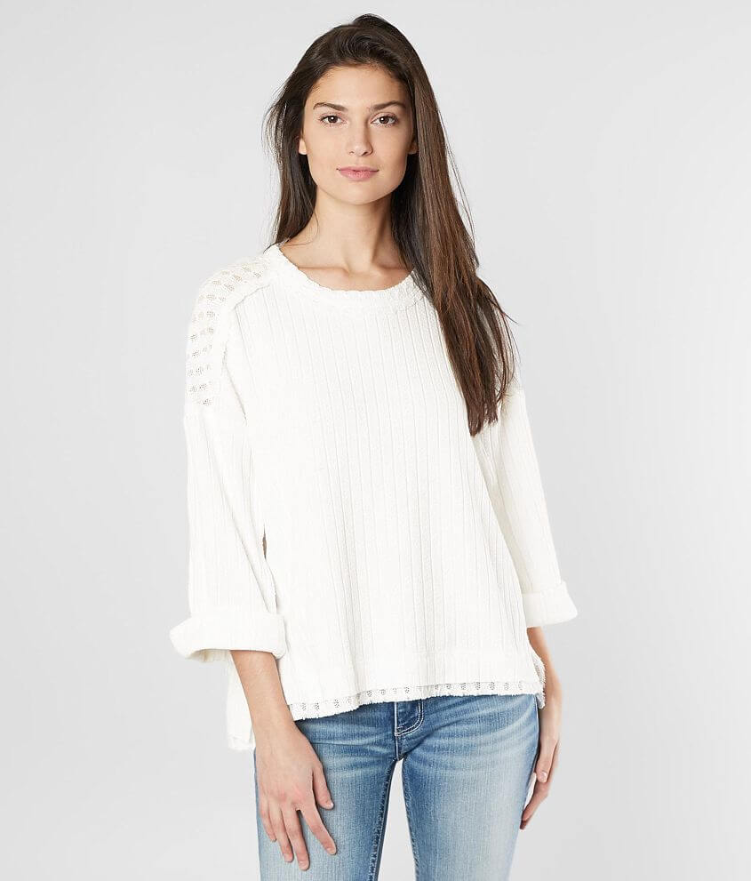 Miss Me Oversized Contrast Top front view